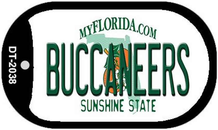 Buccaneers Florida Novelty Metal Dog Tag Necklace DT-2038