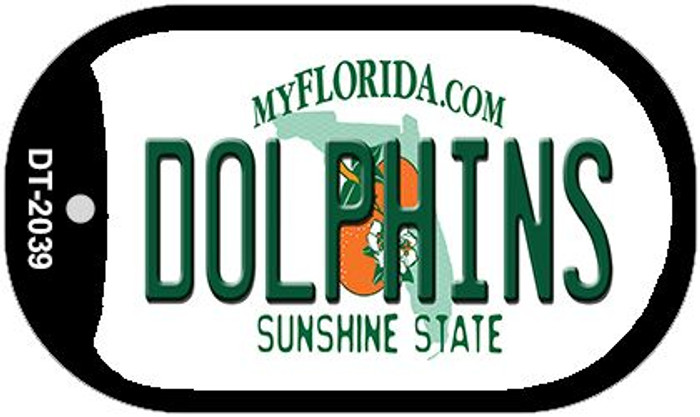 Dolphins Florida Novelty Metal Dog Tag Necklace DT-2039