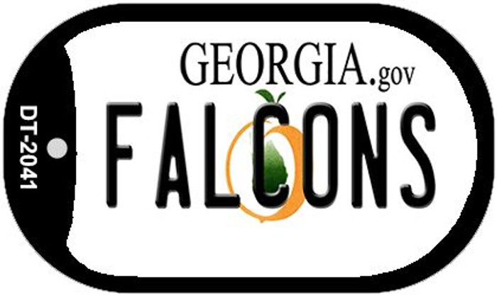 Falcons Georgia Novelty Metal Dog Tag Necklace DT-2041