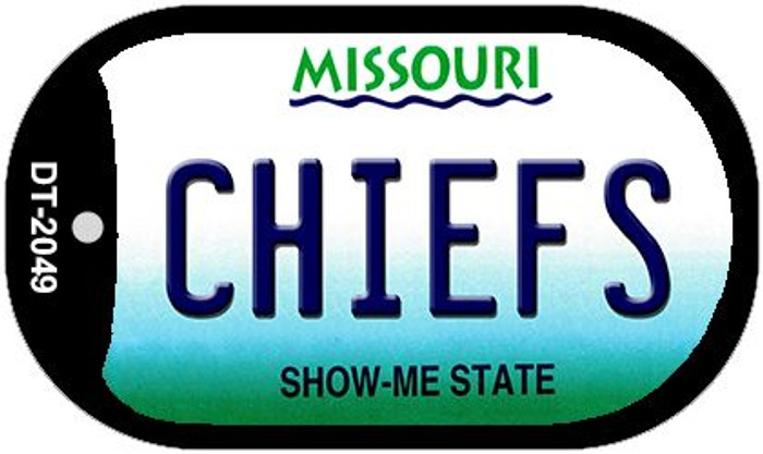 Chiefs Missouri Novelty Metal Dog Tag Necklace DT-2049