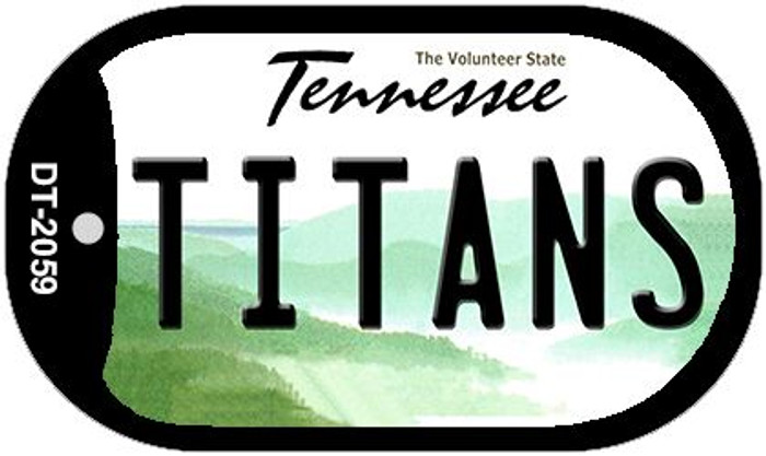 Titans Tennessee Novelty Metal Dog Tag Necklace DT-2059