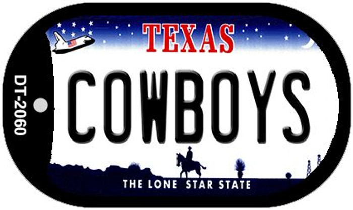 Cowboys Texas Novelty Metal Dog Tag Necklace DT-2060