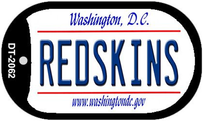 Redskins Washington DC Novelty Metal Dog Tag Necklace DT-2062