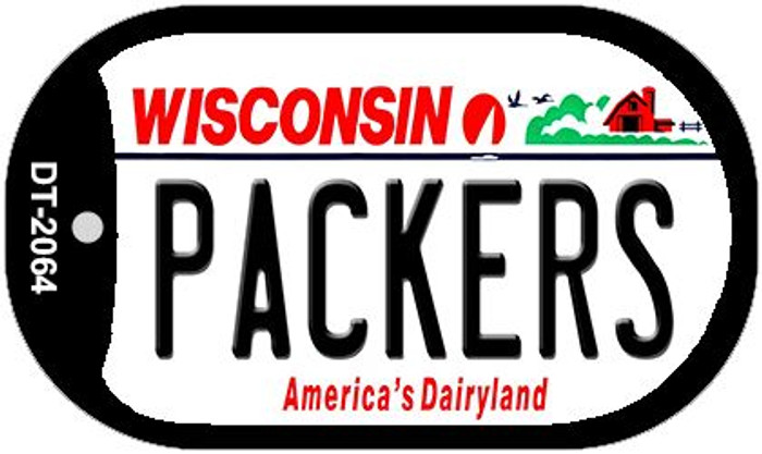 Packers Wisconsin Novelty Metal Dog Tag Necklace DT-2064