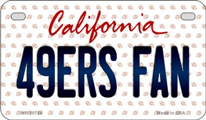 49ers Fan California Novelty Metal Motorcycle Plate MP-10754