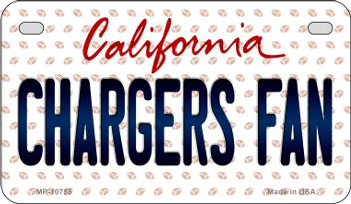 Chargers Fan California Novelty Metal Motorcycle Plate MP-10755