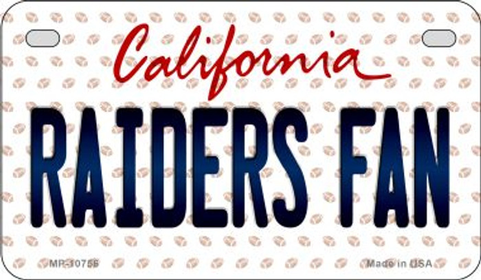 Raiders Fan California Novelty Metal Motorcycle Plate MP-10756