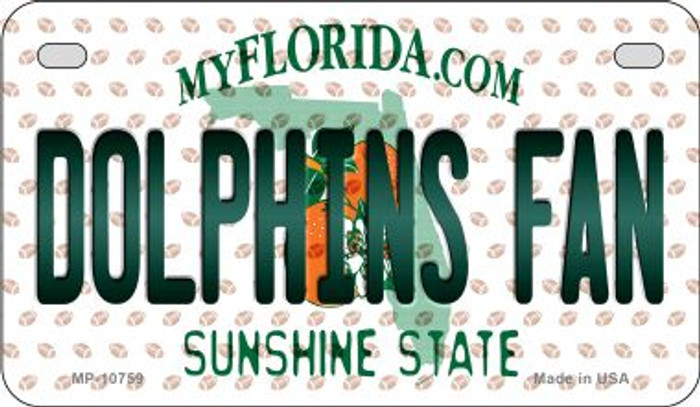 Dolphins Fan Florida Novelty Metal Motorcycle Plate MP-10759