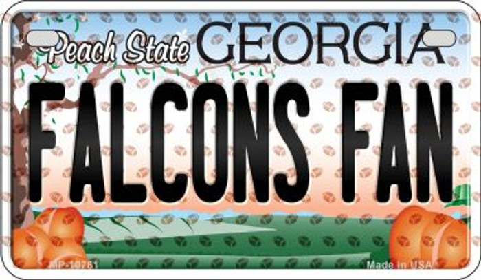 Falcons Fan Georgia Novelty Metal Motorcycle Plate MP-10761