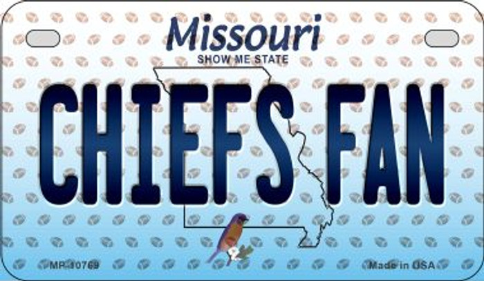 Chiefs Fan Missouri Novelty Metal Motorcycle Plate MP-10769