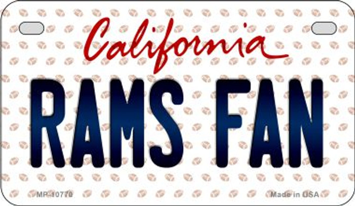 Rams Fan California Novelty Metal Motorcycle Plate MP-10770