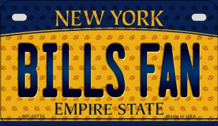 Bills Fan New York Novelty Metal Motorcycle Plate MP-10771
