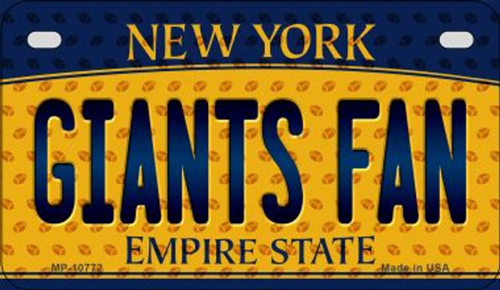 Giants Fan New York Novelty Metal Motorcycle Plate MP-10772