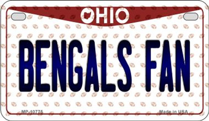 Bengals Fan Ohio Novelty Metal Motorcycle Plate MP-10775