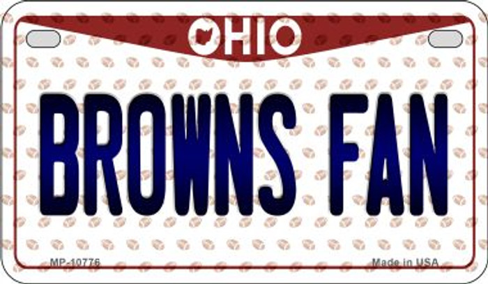 Browns Fan Ohio Novelty Metal Motorcycle Plate MP-10776