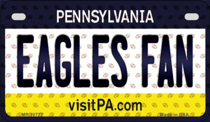 Eagles Fan Pennsylvania Novelty Metal Motorcycle Plate MP-10777