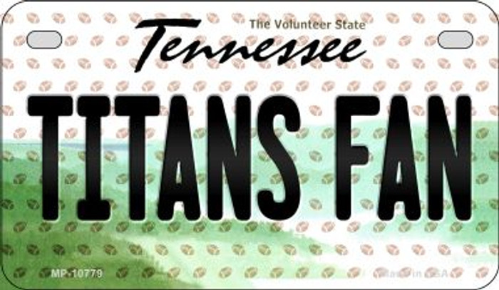 Titans Fan Tennessee Novelty Metal Motorcycle Plate MP-10779