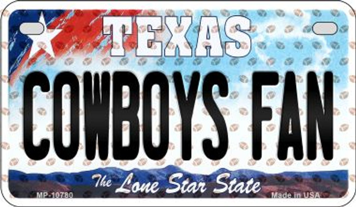 Cowboys Fan Texas Novelty Metal Motorcycle Plate MP-10780