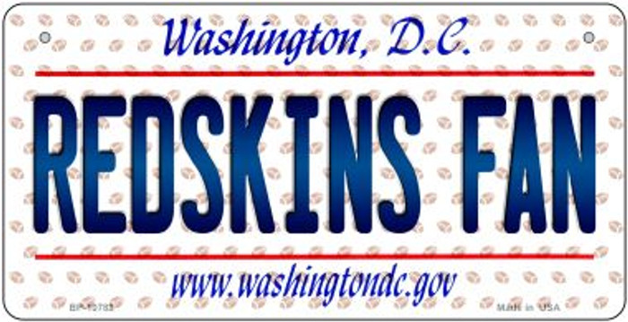 Redskins Fan Washington DC Novelty Metal Motorcycle Plate MP-10782