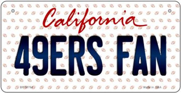 49ers Fan California Novelty Metal Bicycle Plate BP-10754