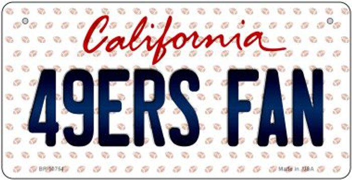 49ers Fan California Novelty Metal Bicycle Plate BP-10754