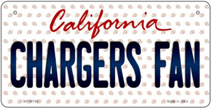 Chargers Fan California Novelty Metal Bicycle Plate BP-10755