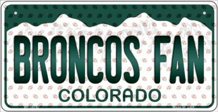 Broncos Fan Colorado Novelty Metal Bicycle Plate BP-10757