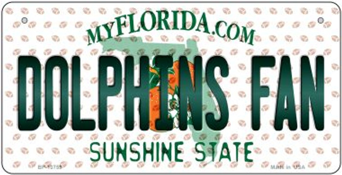 Dolphins Fan Florida Novelty Metal Bicycle Plate BP-10759