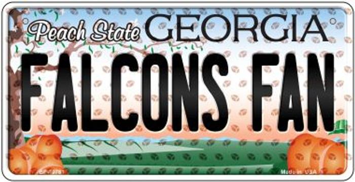 Falcons Fan Georgia Novelty Metal Bicycle Plate BP-10761