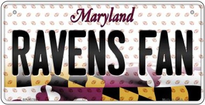 Ravens Fan Maryland Novelty Metal Bicycle Plate BP-10765