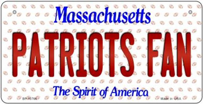 Patriots Fan Massachusetts Novelty Metal Bicycle Plate BP-10766
