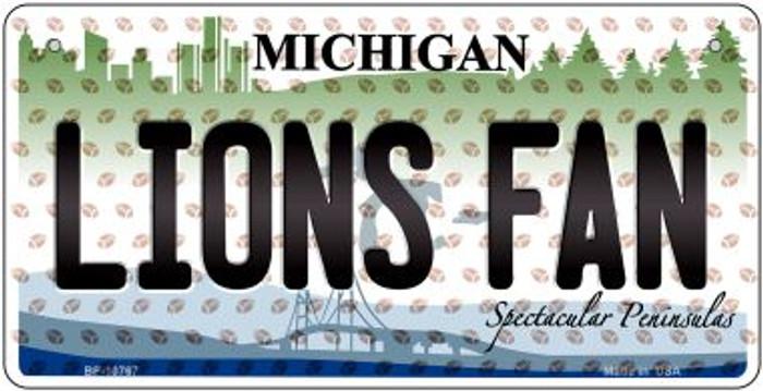 Lions Fan Michigan Novelty Metal Bicycle Plate BP-10767