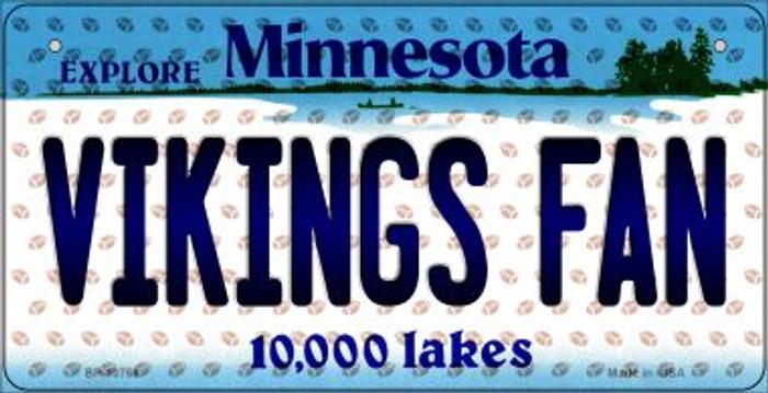 Vikings Fan Minnesota Novelty Metal Bicycle Plate BP-10768