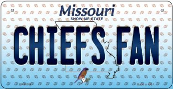 Chiefs Fan Missouri Novelty Metal Bicycle Plate BP-10769