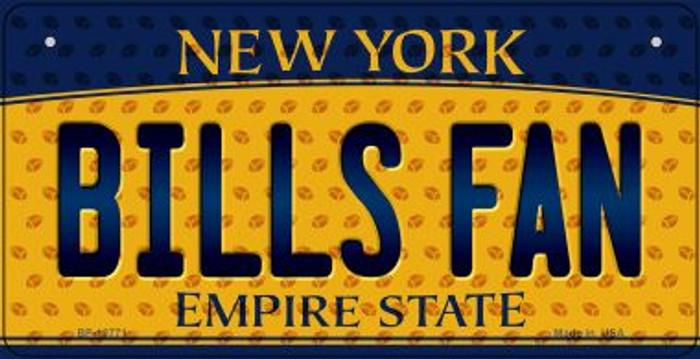 Bills Fan New York Novelty Metal Bicycle Plate BP-10771