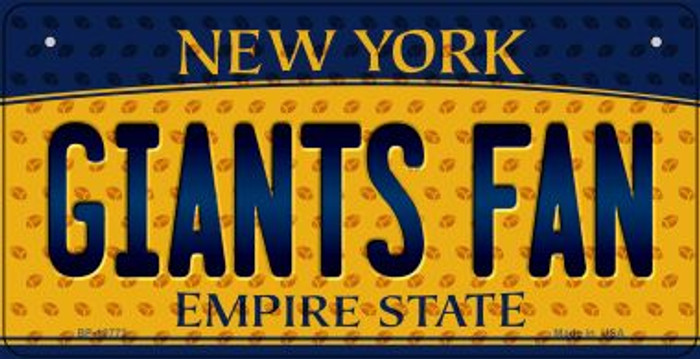 Giants Fan New York Novelty Metal Bicycle Plate BP-10772