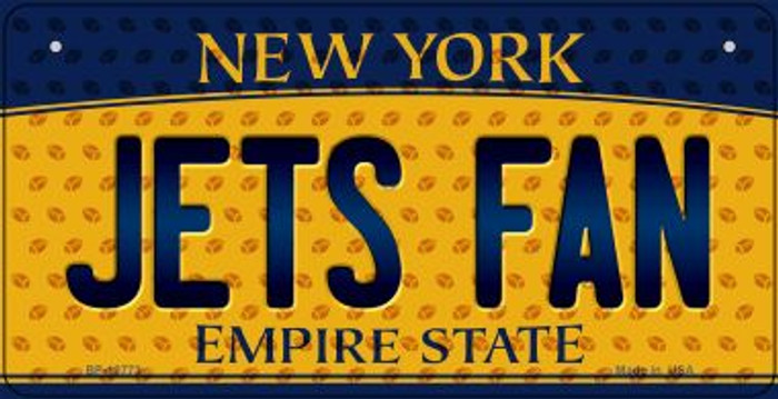 Jets Fan New York Novelty Metal Bicycle Plate BP-10773