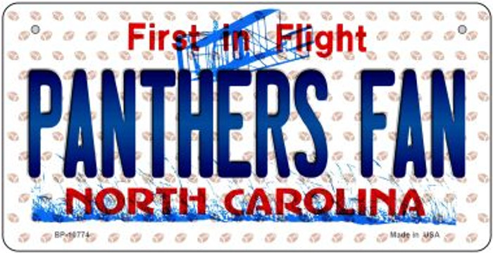Panthers Fan North Carolina Novelty Metal Bicycle Plate BP-10774