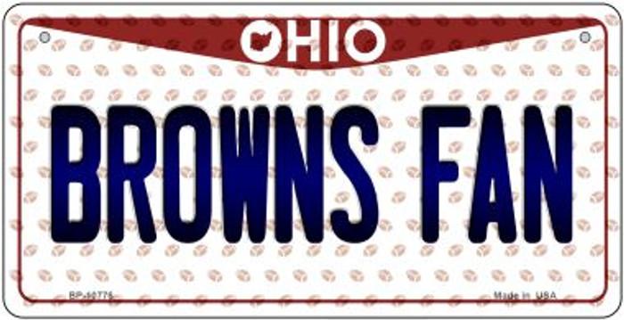 Browns Fan Ohio Novelty Metal Bicycle Plate BP-10776
