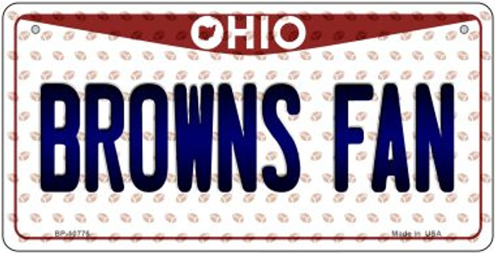 Browns Fan Ohio Novelty Metal Bicycle Plate BP-10776