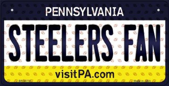 Steelers Fan Pennsylvania Novelty Metal Bicycle Plate BP-10778