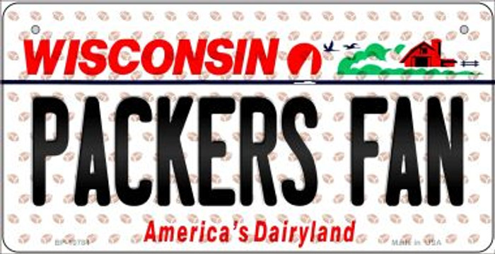 Packers Fan Wisconsin Novelty Metal Bicycle Plate BP-10784