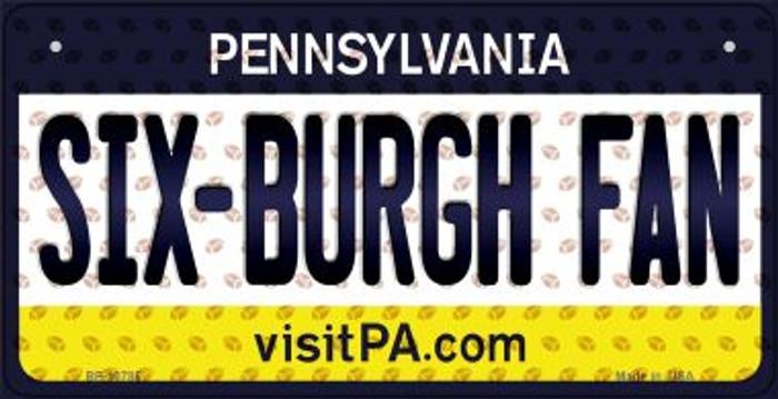 Six-Burgh Fan Pennsylvania Novelty Metal Bicycle Plate BP-10785