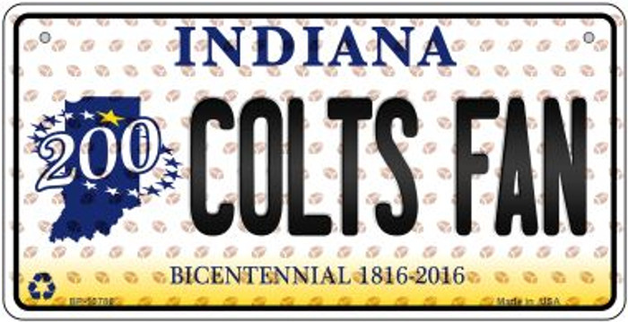 Colts Fan Indiana Novelty Metal Bicycle Plate BP-10786