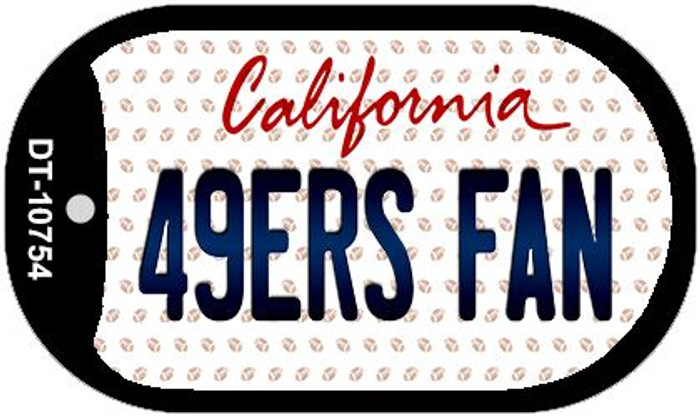 49ers Fan California Novelty Metal Dog Tag Necklace DT-10754
