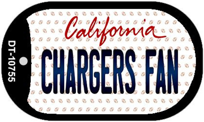 Chargers Fan California Novelty Metal Dog Tag Necklace DT-10755