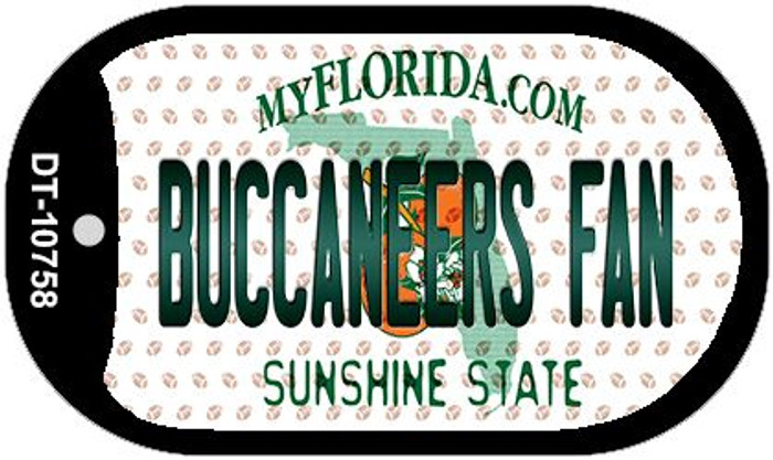 Buccaneers Fan Florida Novelty Metal Dog Tag Necklace DT-10758