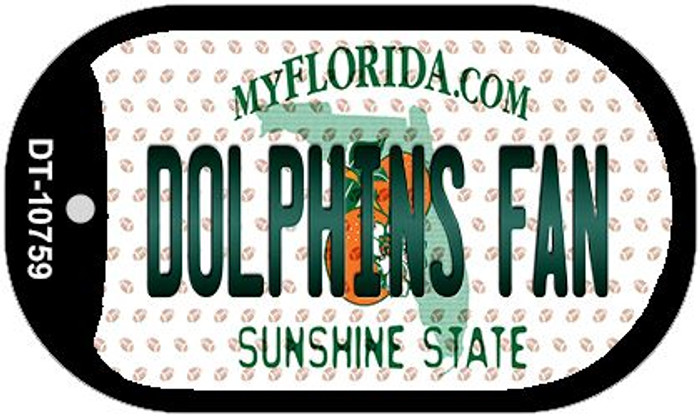 Dolphins Fan Florida Novelty Metal Dog Tag Necklace DT-10759