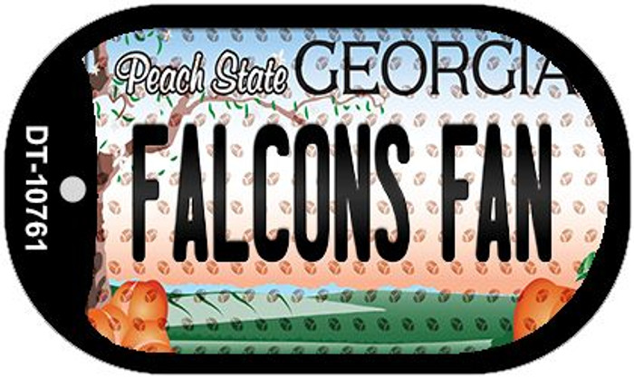 Falcons Fan Georgia Novelty Metal Dog Tag Necklace DT-10761