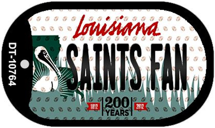 Saints Fan Louisiana Novelty Metal Dog Tag Necklace DT-10764
